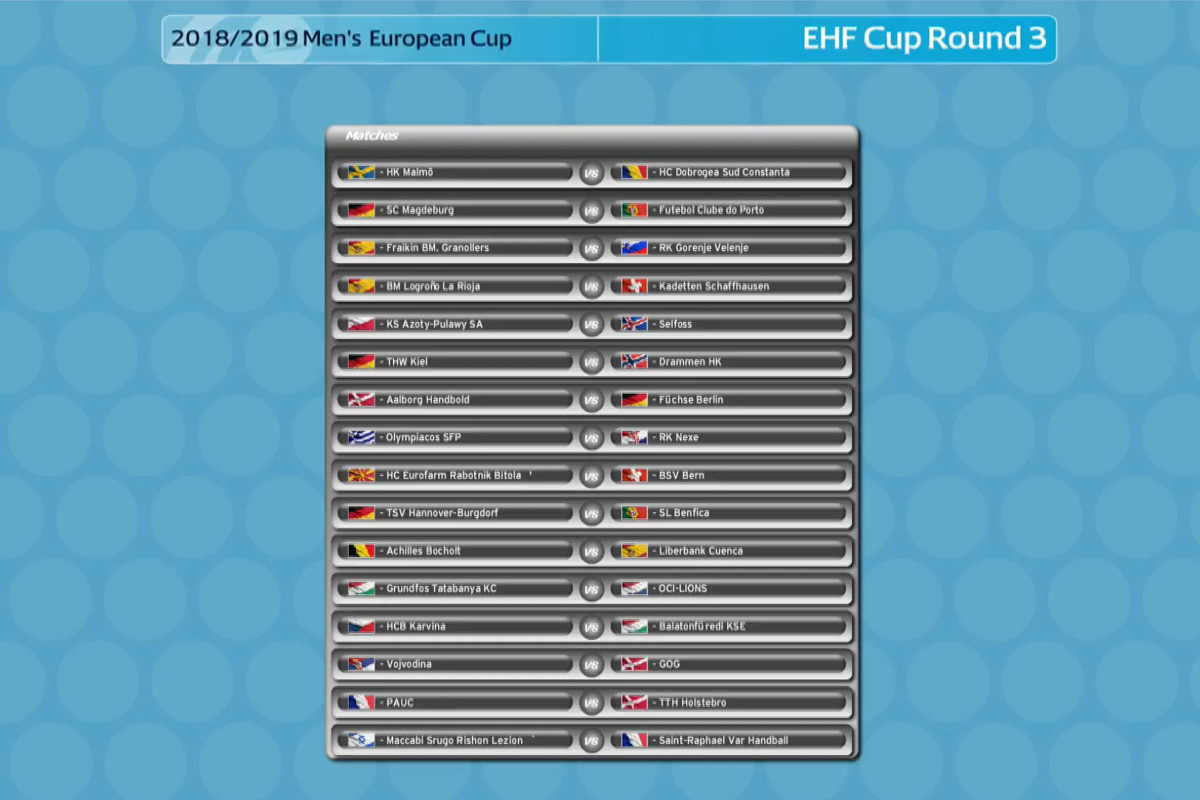 EHF Cup_Auslosung_EHF Alle Spiele