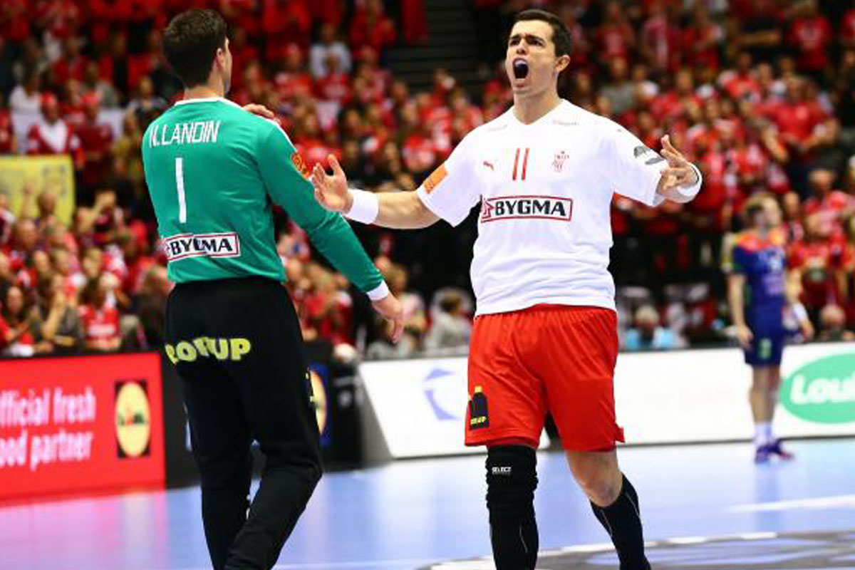 WM 19_Niklas Landin und Rasmus Lauge jubeln ueber WM-Gold_DEN_Bildquelle_Ingrid Anderson-Jensen