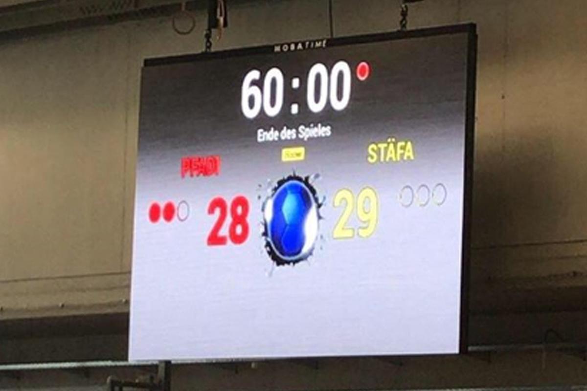 Espoirs vs Lakers_Schlussresultat_Halle in Hegi