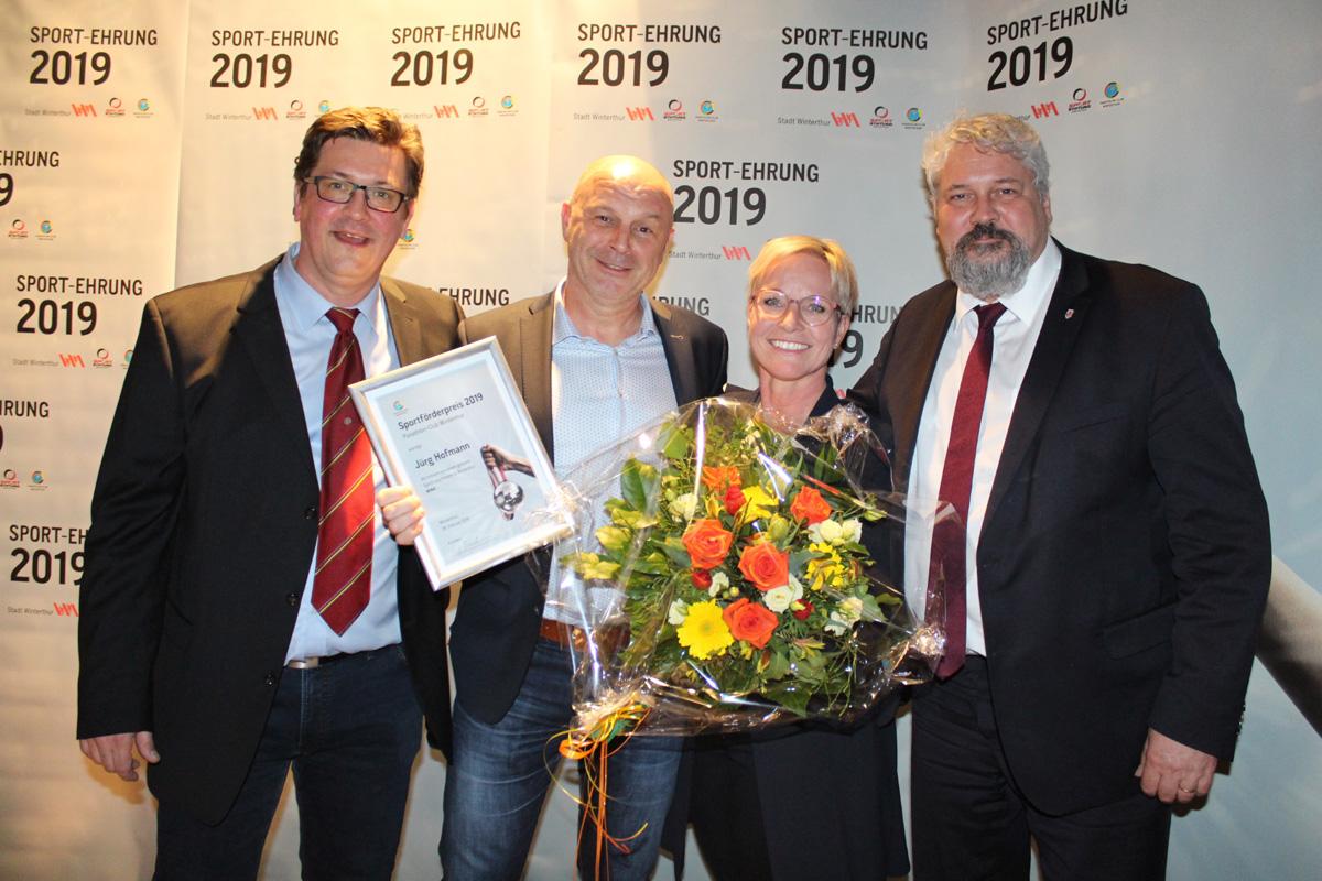 Sport-Ehrung 2019_D-Spengler_J-Hofmann_I-Hofmann_M-Kuenzle