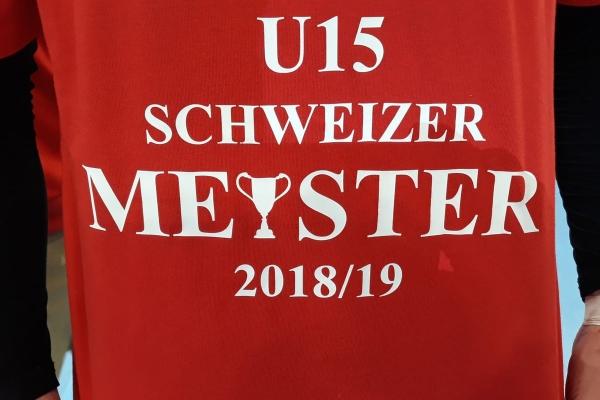 U15 Elite_Siegerleibchen_CH-Meister 2018-19