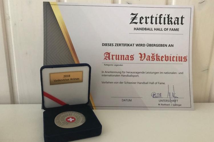 Arunas Vaskevicius_Zertifikat HAll of Fame