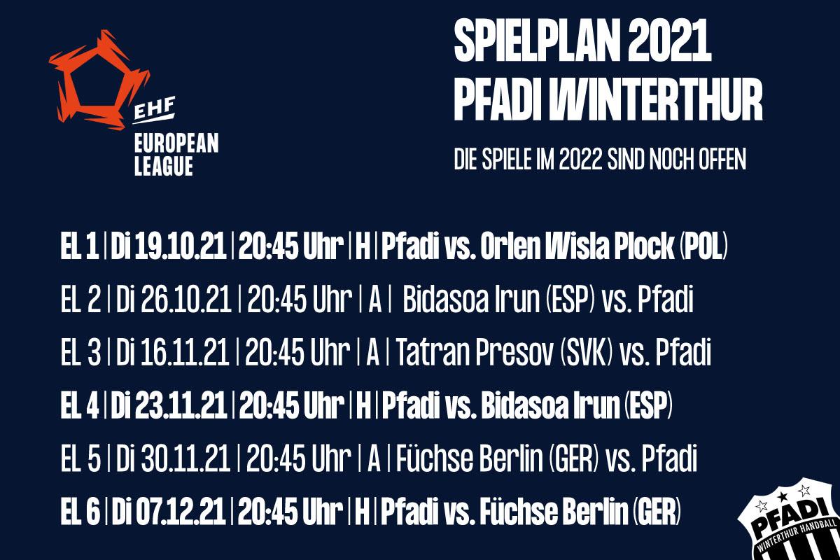 EHF EL_Spielplan 2021 def
